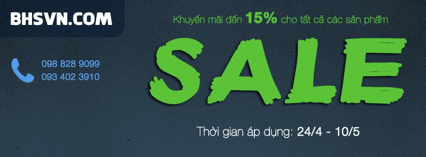 Chương trình khuyến mãi 15% tất cả các sản phẩm