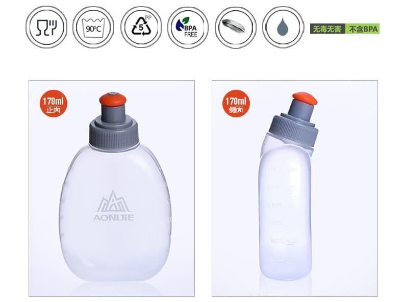 Hai bình nước 170ml kèm theo túi đeo B015