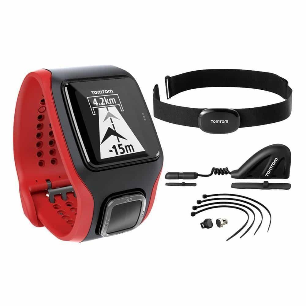 Đồng hồ GPS TomTom Multi-Sport Cardio + Cadence & Speed Sensor Altimeter (cảm biến đo tốc độ, độ cao)