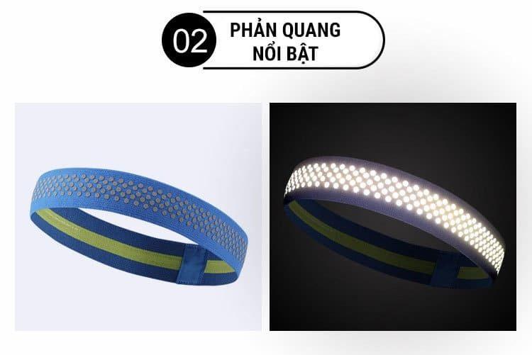 Băng trán thể thao phản quang Headband HB03