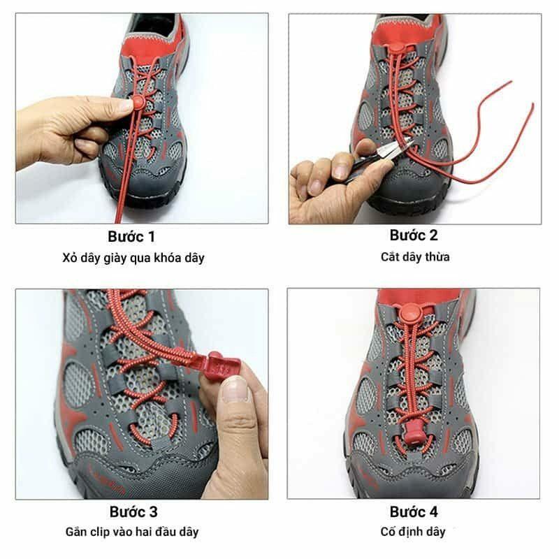 Khóa dây giày phản quang Lock Laces Reflective