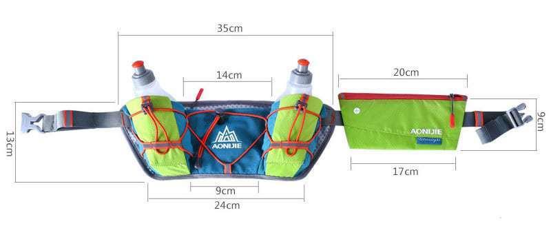 Túi đeo hông đựng nước siêu nhẹ Aonijie B017 (kèm 2 bình nước 250ml)