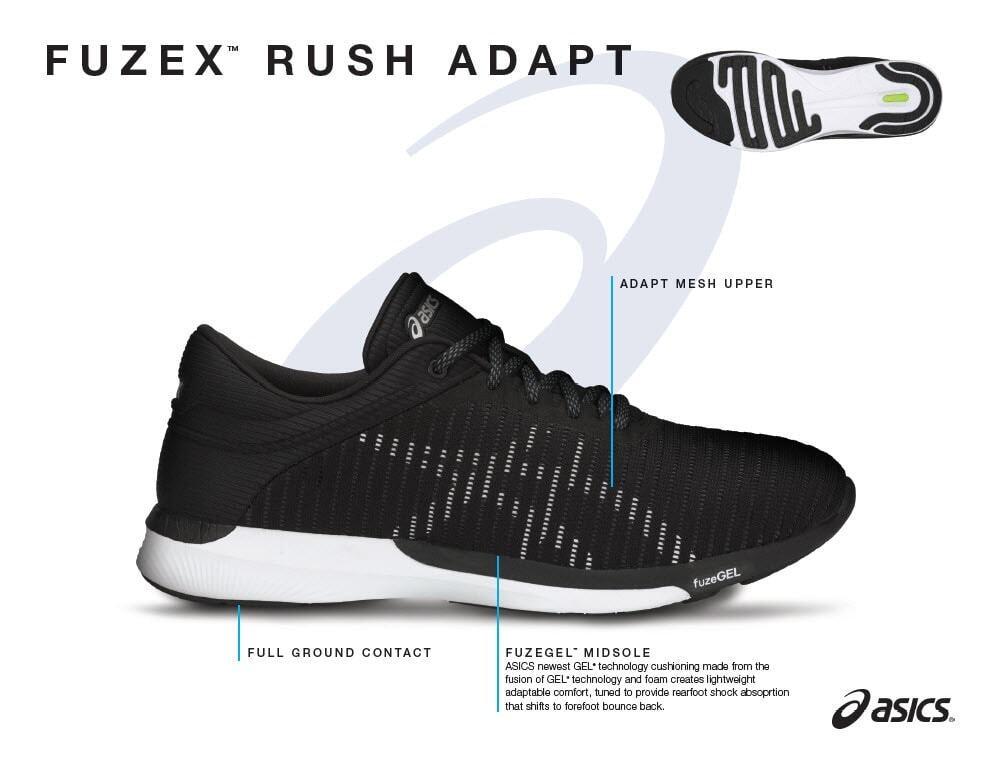 Giày nam Asics fuzeX Rush Adapt
