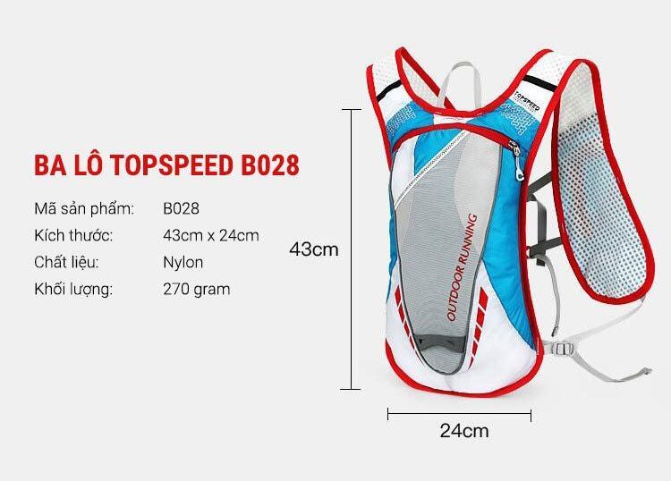 Ba lô chạy bộ chống nước Local Lion Topspeed B028