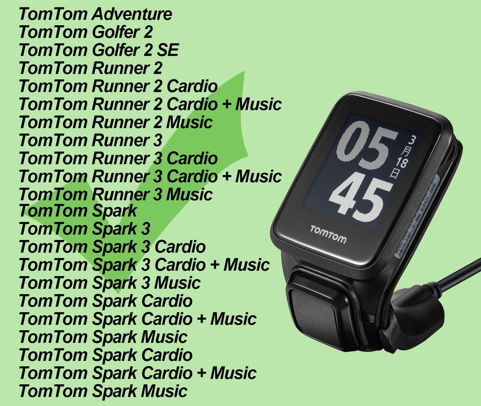 Dây sạc đồng hồ TomTom Spark 2 / Spark 3