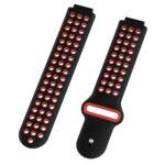 Dây đeo đồng hồ silicon DUO cho Garmin Forerunner 230/235/630/735XT - Đen Đỏ