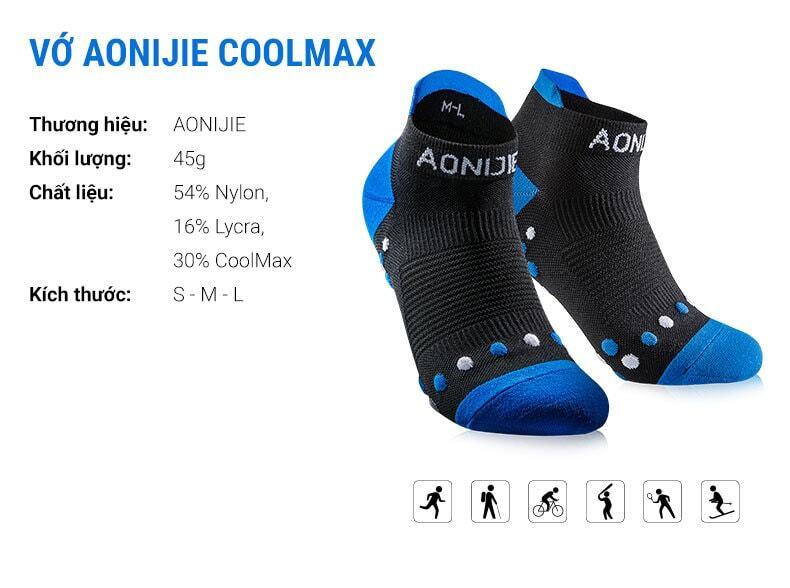 Vớ thể thao Aonijie CoolMax Low Cut