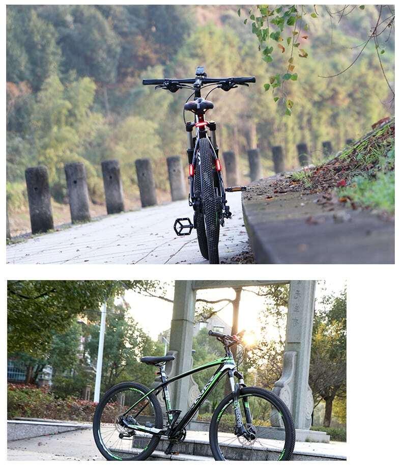 Đèn hậu xe đạp pin sạc usb chống nước Wheel Up