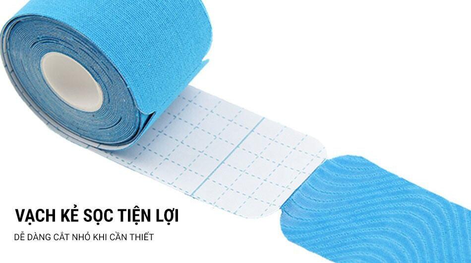Băng dán cơ YCB Kinesiology Tape PreCut khổ 5cm (cuộn 20 miếng cắt sẵn)