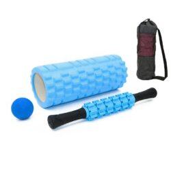 Bộ sản phẩm massage cơ bắp: ống lăn foam roller + gậy lăn + banh