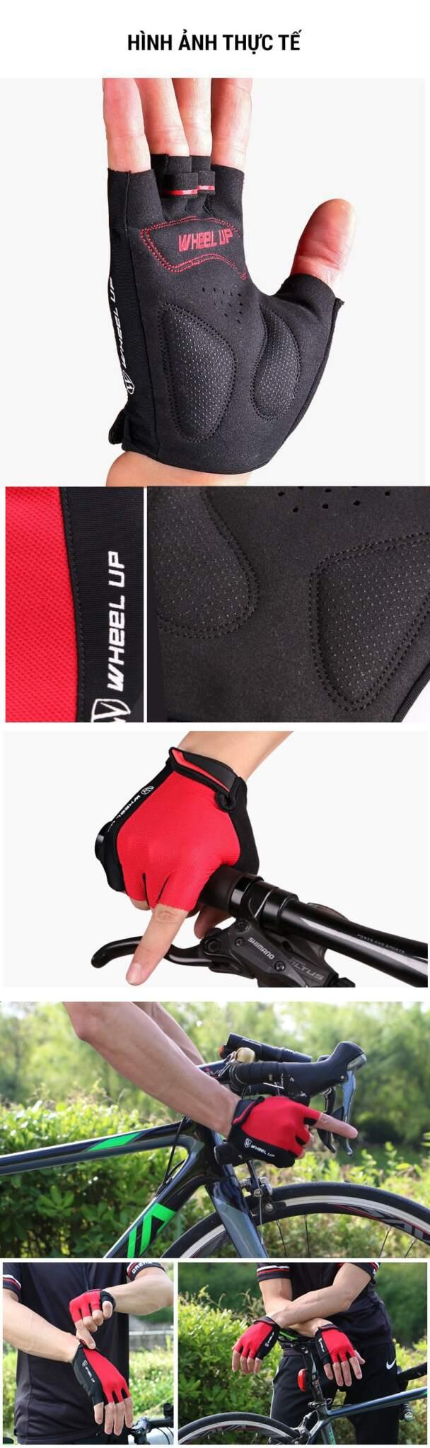 Găng tay xe đạp Wheel Up chống sốc GL-02
