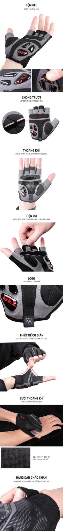 Găng tay xe đạp Wheel Up GEL (GL-03)