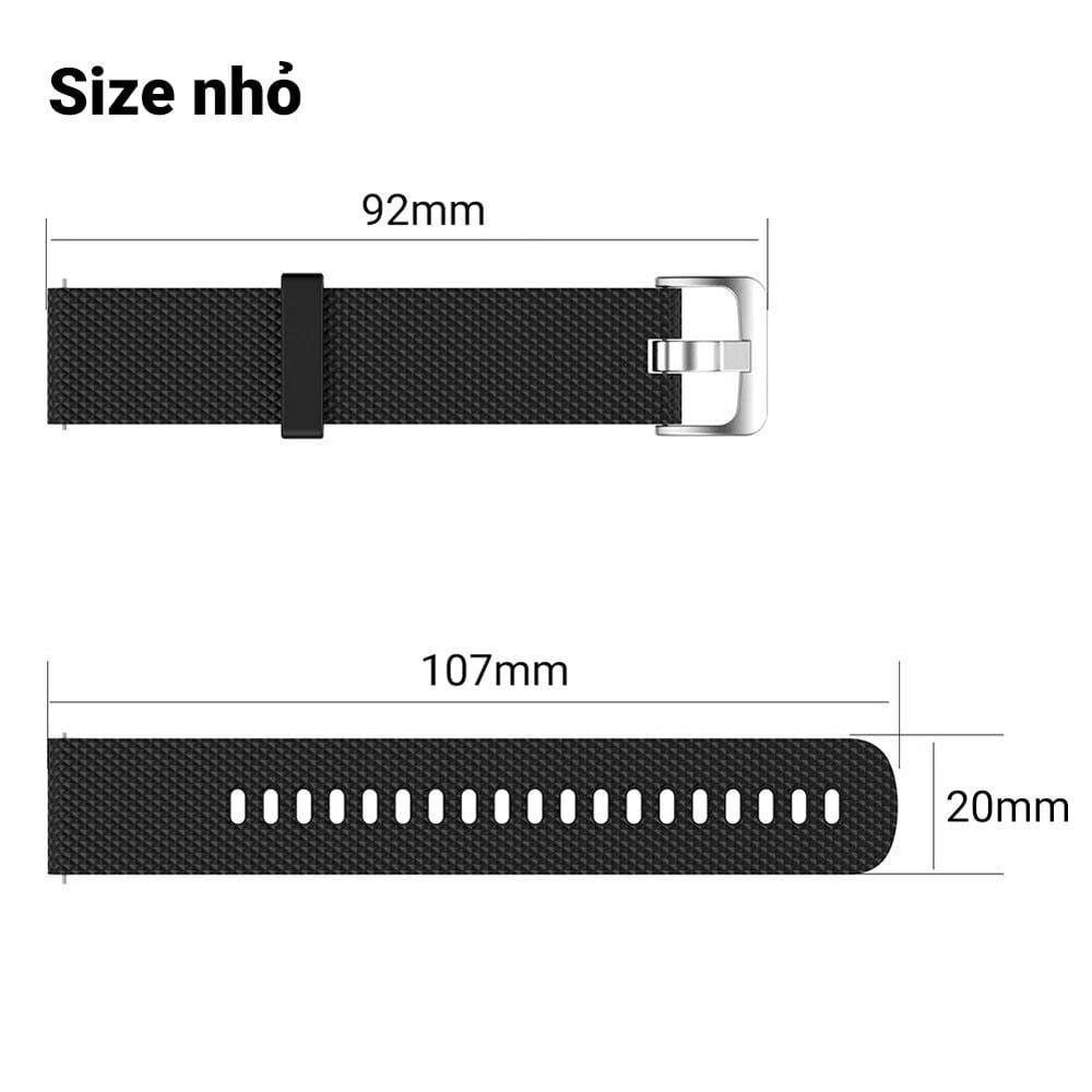 Dây đeo đồng hồ silicon Quick Release - Garmin vivoactive 3 / Forerunner 245 / 645 (20mm)