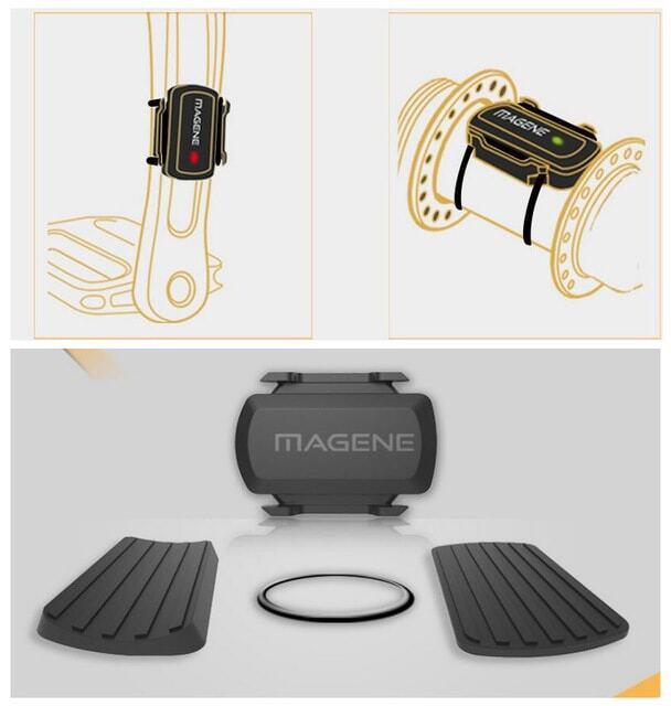 Cảm biến tốc độ và vòng đạp 2-trong-1 ANT+ / Bluetooth Magene Gemini210