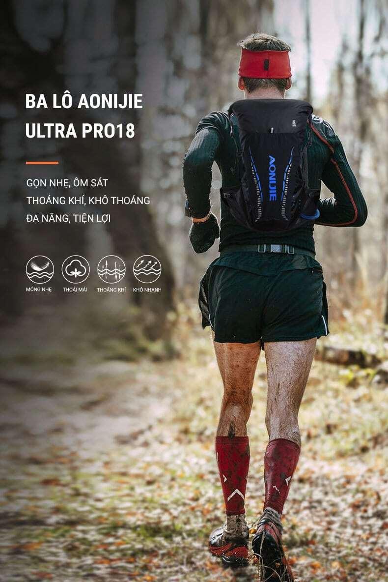 Ba lô chạy trail, leo núi Aonijie Trail Pro 18L (B034)