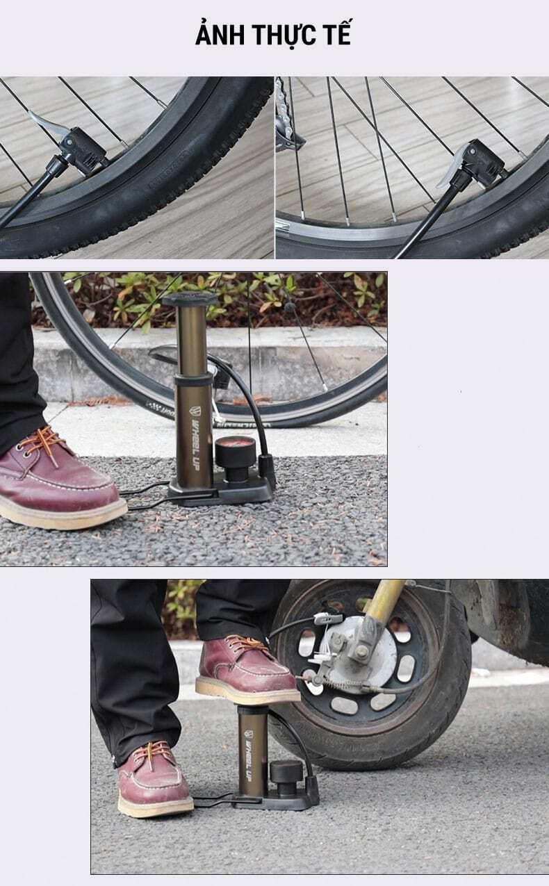 Ống bơm đạp chân Wheel Up Foot Pump