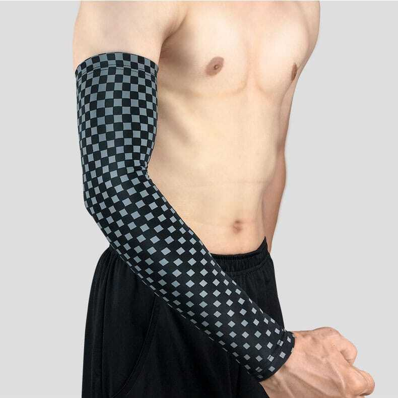 Ống tay thể thao Checked Arm Sleeve AS04