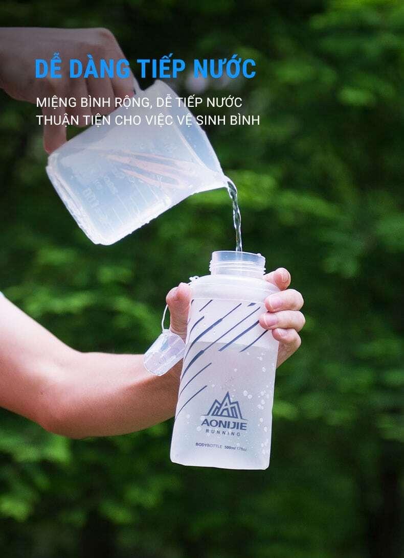 Bình nước dẻo Aonijie Quick Stow Flask (500ml)