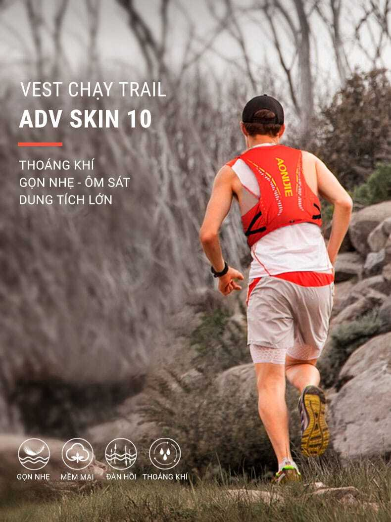 Vest nước chạy trail Aonijie Advanced Skin 10 C942 (B040)