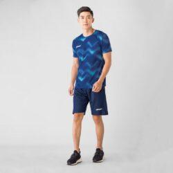 Áo nam chạy bộ KeepDri Printed Blue