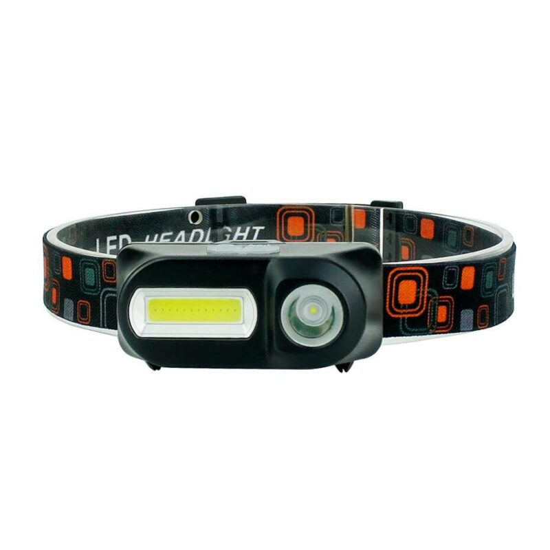 Đèn pin đeo trán Dual LED - XPE + COB (pin sạc 2300mAh)