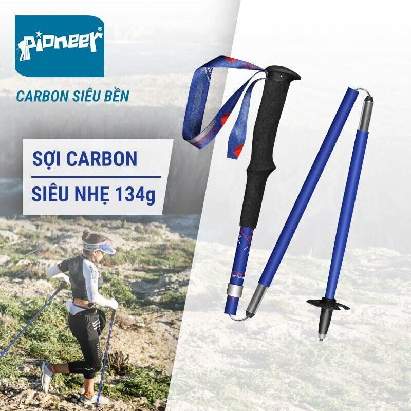 Gậy leo núi carbon gấp Z-Pole Pioneer Trailblazer 2020 (134 gram)