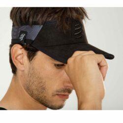 Nón thể thao hở đầu Compressport Spiderweb Ultralight Visor - Black Edition 2020