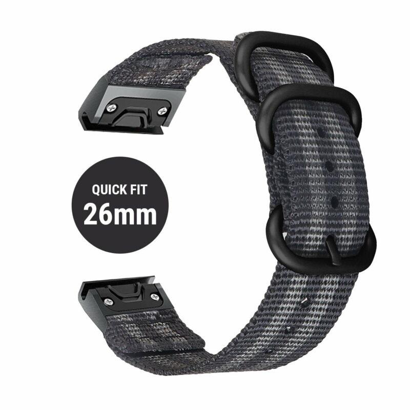 Dây đồng hồ Quick Fit Nato 26mm - Garmin fenix 6X / 5X Plus / 3HR