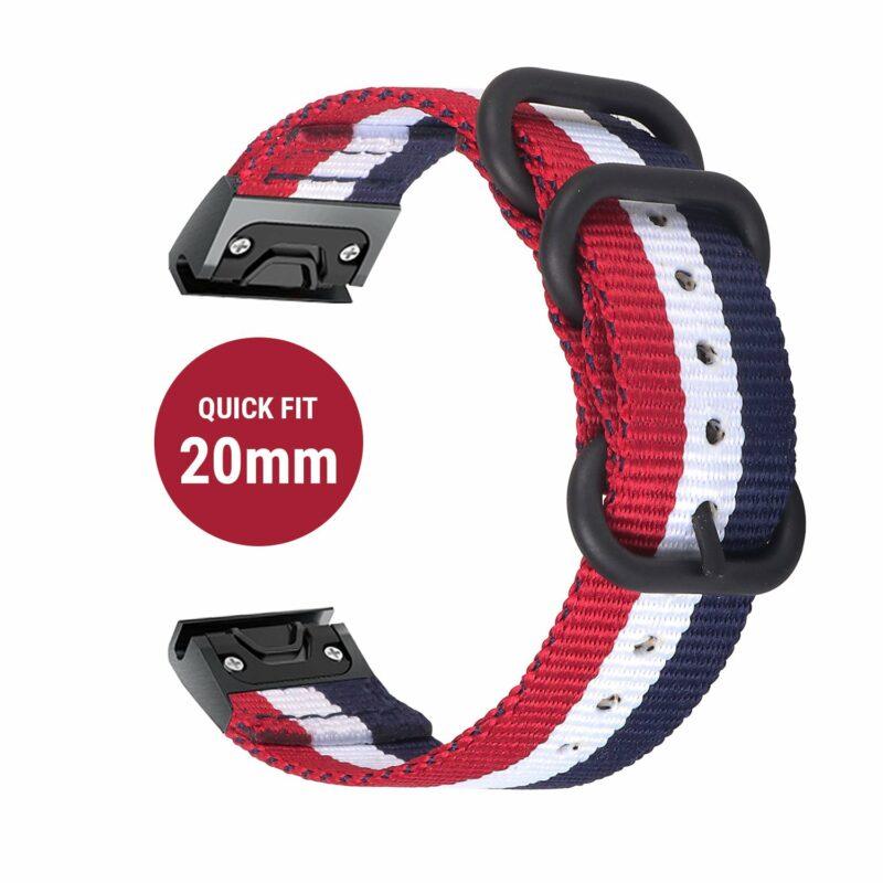 Dây đồng hồ Quick Fit Nato 20mm - Garmin fenix 6s / 5s plus / 5s